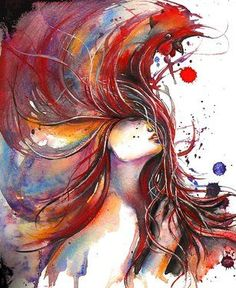 """Saatchi Art Artist: Dreya Novak; Watercolor 2013 Painting """"Rooster"""" Like this."""