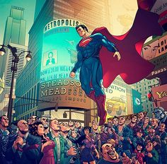 Hopefully i'm not the only one here who got wickedly giddy over the 2013 Zack Snyder-Christopher Nolan's take on The Man Of Steel. Welcome To Metropolis, Man Of Steel Marvel Vs, Marvel Comics, Arte Dc Comics, Batman Y Superman, Superman Family, Superman Man Of Steel, Superman Artwork, Superman Wallpaper, Superman Stuff