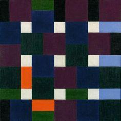 Max Bill (Swiss: 1908 - 1994 ), Acht Farbgruppen, Oil on canvas. Max Bill, Blue Artwork, Concrete Art, Paul Klee, Wassily Kandinsky, Op Art, Geometric Art, State Art, American Artists