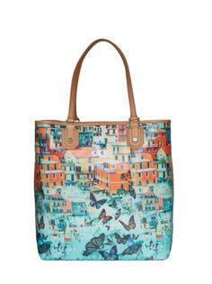 Alice + Olivia Veronica Printed Tote Bag in Multicolor (MULTI)
