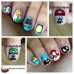 Ruby's Nails: Super Mario Bros