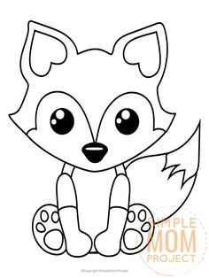 Baby Fox Coloring Pages | Fox, : Baby Fox Want to Touch ...