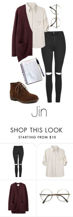 """""""Writing Music with Jin"""" by btsoutfits ❤ liked on Polyvore featuring Topshop, rag & bone, Acne Studios, women's clothing, women, female, woman, misses and juniors"""