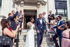 Champa and John's Wedding at Islington Town Hall Days Of The Year, Start The Day, Bermondsey Street, Bridesmaid Dresses, Wedding Dresses, Town Hall, Hot Days, Her Hair, Confetti