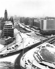 Coolsingel_aanleg_metro 1964