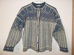 Selbu Tradition 100 Wool Long Sleeve Cardigan Norwegian Knitwear Sweater Size M | eBay