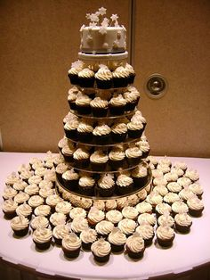 Wedding cake cupcakes? Our first date was over cupcakes so kinda suiting but not super formal for a wedding
