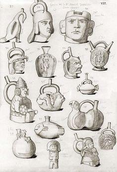 [Cerámicas de una galeria privada de Perú] [Dibujo] [Rafael Castro y Ordóñez]. Reproducciones de piezas de la colección de una galería privada en Lima (Perú) http://aleph.csic.es/F?func=find-c&adjacent=N&ccl_term=SYS%3D000007451&local_base=ARCHIVOS&sms_ss=aleph.csic.es