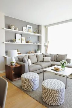 Minimalist living room is no question important for your home. Because in the living room every the endeavors will starts in your beautiful home. locatethe elegance and crisp straight Minimalist Living Room Houzz. probe more upon our site. Cozy Living Rooms, Living Room Grey, Living Room Interior, Home Interior Design, Living Area, Interior Ideas, Scandinavian Living Rooms, Condo Living Room, Living Room Decor Colors Grey