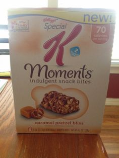 Special K Moments Caramel Pretzel Bites Serving Size: 1 indulgent snack bite 2 pointsplus+ #weightwatchers