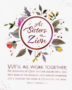 September 2017 Visiting Teaching Printable Handout Sisters in Zion www.TeepeeGIrl.com