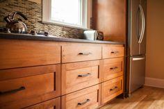 Custom-Stained Alder Kitchen Cabinets