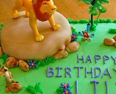 Vegan Chocolate Cake with Vanilla Vegan Buttercream Frosting (Lion King cake )