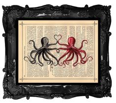 Etsy listing at http://www.etsy.com/listing/66923270/custom-wedding-octopus-print-dictionary