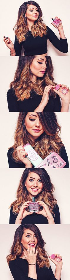 zoe sugg / zoella photo shoot for new zoella beauty tutti fruity collection Ge Zoella Hair, Zoella Beauty, Beauty Makeup, Hair Makeup, Hair Beauty, Famous Youtubers, Bae, Zoe Sugg, Woman Crush