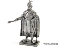 Ukraine, Bohdan Khmelnytsky - Hetman of Zaporozhian Army metal sculpture. Collection 54mm 1:32 miniature figurine. Tin toy soldiers shop