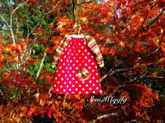 Long Sleeve Christmas Dress with Pocket by SewWiggly on Etsy, $28.00