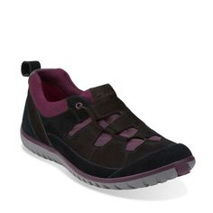 Ibeeck Ripple Black Nubuck - Womens Shoes - Womens Active Shoes - Clarks® Shoes