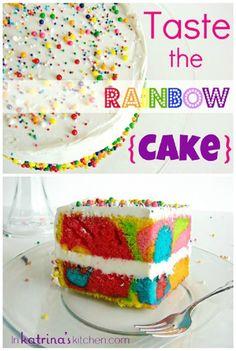 Bake a RAINBOW CAKE                                                       …