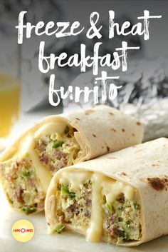 These make-ahead breakfast burritos are a quick and easy recipe. The secret? Baking the burrito filling on a sheet pan to save time and dishes.