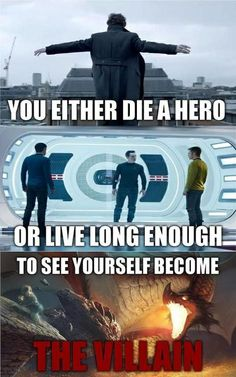 Hero to villain - painful and funny all at the same time.