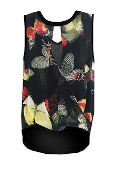 Silk Flip Front Butterfly Top from Single Dress