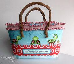 Stempeleinmaleins: Mini-Strandtasche - mini beach bag