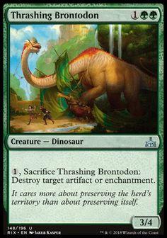 Uncommon - Ixalan 218//279 4 x Belligerent Brontodon