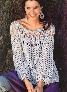 Ecru Tunic free #crochet graph pattern