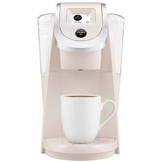 Keurig . K200 Coffee Maker Brewing System, Sandy Pearl ($120) ❤ liked on Polyvore featuring home, kitchen & dining, small appliances, sandy pearl, single serve coffeemakers, keurig brewing system, tea brewer, keurig and single serve brewers