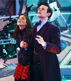Clara and the Doctor in the 50th, the Doctor looks so surprised