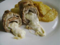 Involtini di maiale ripieni di crudo e mozzarella di bufala    #recipe  #juliesoissons
