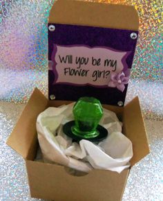 Will You Be My Bridesmaid/maid of honor/flower girl Box w/Ring Pop