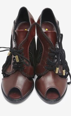 Louis Vuitton Burgundy And Black Booties | VAUNTE