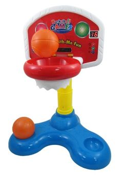 Buy Shoot and Cheer Baby Basketball Hoop Electronic Game Set for Kids & Toddlers    Great toy for developing your child's motor skills and hand-eye coordination. Very fun to play with. Ages 18 months and up.