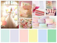 paleta de colores =) Arcoiris pastel!