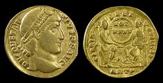 Ancient Rome. Constantius II, 337 - 361 AD. Gold solidus, Antioch mint. Struck 355-361 AD.