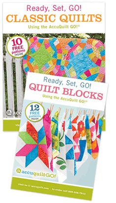 Enjoy your Ready Set GO! Pattern Book.  When you make your quit don't forget to share it with us on Quilters SpotlightFree downloadable pattern. Once you add item to shopping cart and checkout out, you'll be able to download your Free Pattern from your Account page. Pattern Downloads are best viewed using the latest versions of  Adobe Reader  and Internet Explorer . Compatible with these fabric cutters:GO! BabyGO!Studio**Must use with GO! Die Adapter