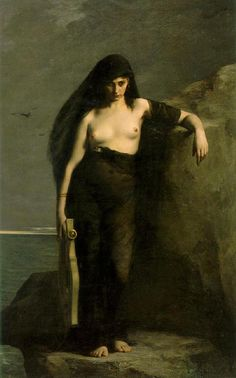 Safo - Charles Auguste Mengin