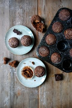 Chocolate Muffins filled with Peanut Butter ° eat in my kitchen