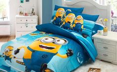 Wholesale-Twin/full/Queen Size Cotton Baby Kid Cartoon Minions Pattern Bedding Set Bed Linens Bed Cover Duvet Cover Home Textile Online with $27.41/Piece on Comely2015's Store | DHgate.com