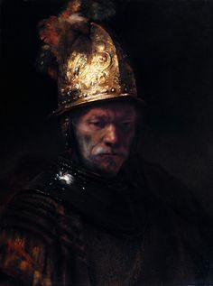 The Man with the Golden Helmet by Rembrandt van Rijn c. 1650.
