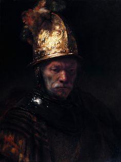 The Man with the Golden Helmet by Rembrandt van Rijn c. 1650.