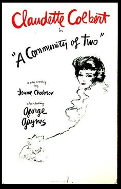 A Comminitay of Two Window Card Claudette Colbert