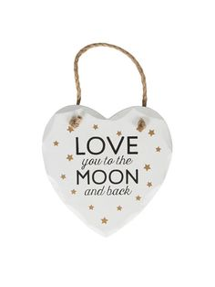 "Cartel de Madera ""Love You To The Moon And Back"""