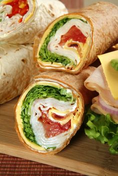 Turkey Tortilla Wrap wraps-pockets-roll-ups Dairy Free Recipes, Paleo Recipes, Cooking Recipes, Gluten Free, Paninis, Wrap Recipes, Lunch Recipes, Chipotle, Yummy Eats
