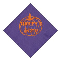 Halloween inspired customization for 30th birthday party on 3-ply beverage napkins