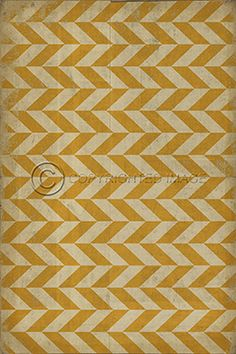 Pattern VI yellow on yellow herringbone vinyl vct tile flooring or mat