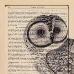 I like the whole art on book pages thing.