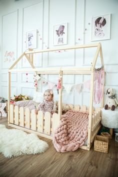 House bed, Toddler bed, Play house, Tent bed Bunk bed Wooden playhouse Montessori bed Toddler floor bed Wood nursery Teepee bed Kids bedroom Children's room – home accessories Toddler Floor Bed, Toddler House Bed, Diy Toddler Bed, Toddler Rooms, Baby Floor Bed, Toddler Bed Canada, Toddler Bedding Girl, Kids Bedroom Ideas For Girls Toddler, Wooden Toddler Bed